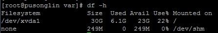 Linux磁盘空间容量